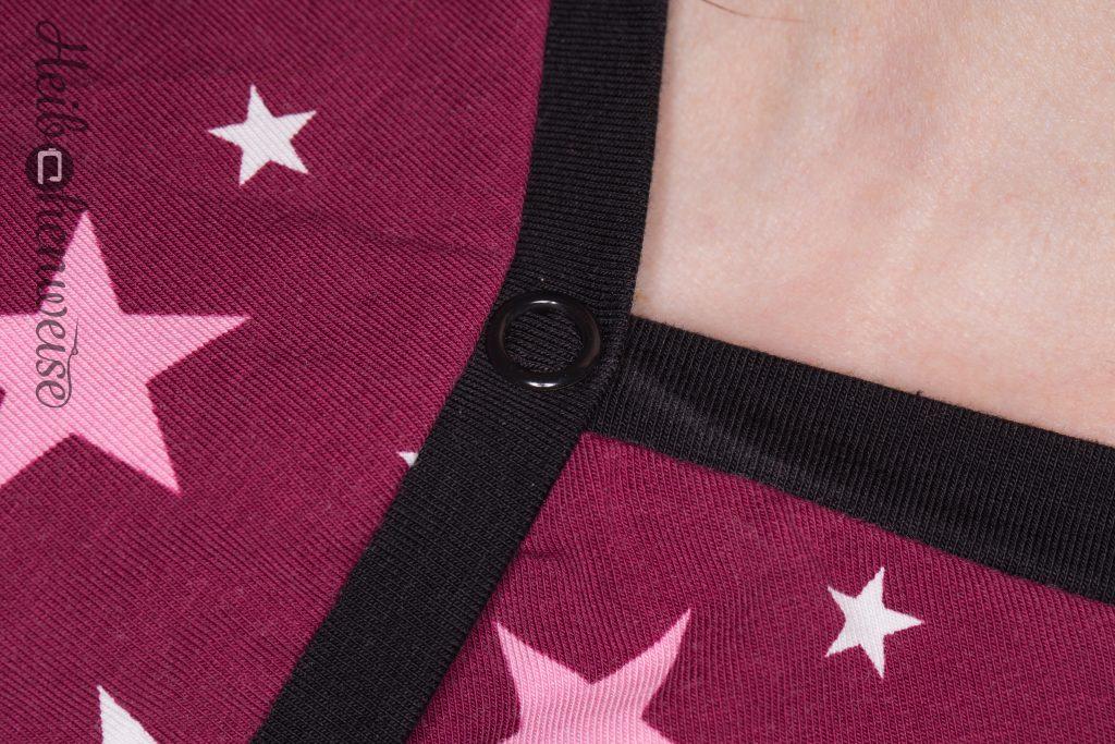 Detailbild Amerikanischer Ausschnitt Lady Ophelia Shirt genäht