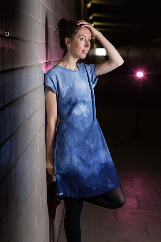 Basic Blusen Shirt von Kibadoo, batik Stoff, genäht