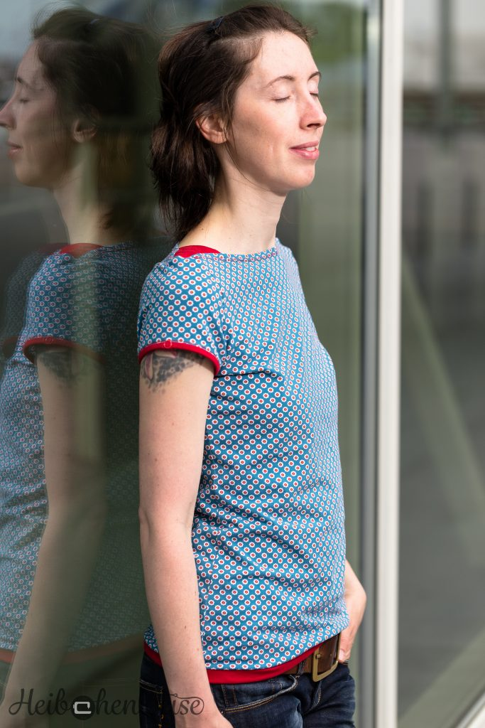 Shirt FrauMarlene genäht, Fritzi und Schnittreif