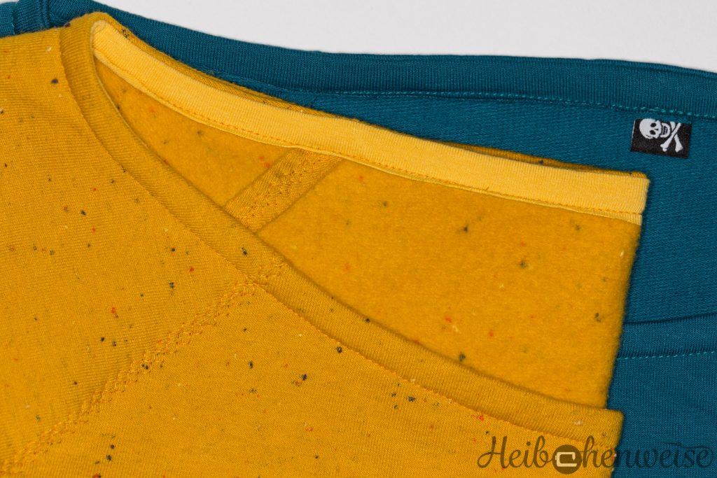 Burda Schnitt 6990 Raglanoberteil Variante B und E genäht